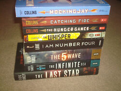 The 5th Wave Hunger Games I Am Number 4 Whisper Book Lot Trilogy Set Dystopian