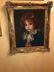 The Needlewoman Shop London Hand Made Needle Work Picture 20x23custom Wood Frame