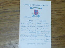 Menu For 112 Transit Officers Mess Calais Dated 12/12/1946 Hand Written French