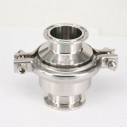 1-1/2 38mm 304 Stainless Steel Tri Clamp 1.5 Sanitary Check Valve Brew Beer