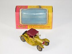 Nos Vtg 1960and039s Matchbox Models Yesteryear Y-6 1913 Cadillac Coupe Toy Car In Box