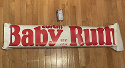 Giant Curtiss Candies 3 Foot Baby Ruth Candy Bar Advertising Promotional Vintage