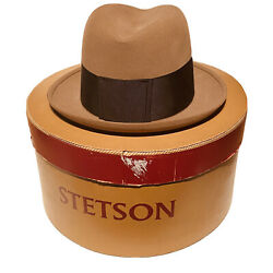 Vintage Stetson Hat 3x Beaver Southcomb Baltimore Fedora Size 7 With Box