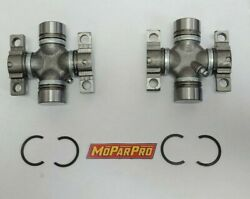 1957 Dodge Desoto Chrysler Imperial Universal Joint Pair New Mopar Chryco Ujoint