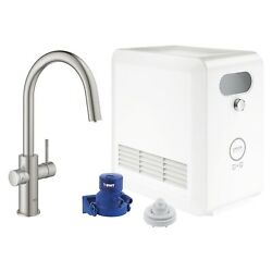Blue Professional Starter Kit Round Single-handle Beverage Faucet By Grohe