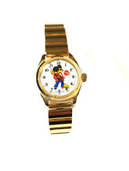 Vintage Disney Mickey Mouse Wrist Mechanical Windup Watch Watches Nos67-m