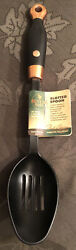 """New Revere Ware Copper Accent Slotted Cooking / Serving Plastic Spoon 14 1/4"""""""