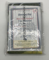 New York Yankees Opening Day Flag Hamilton Collection With Coa New 28 X 36
