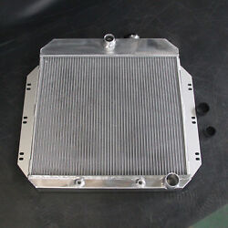 6062 Aluminum Radiator Fit Chevrolet Chevy C20 1960-1962 L4 3row At 52mm