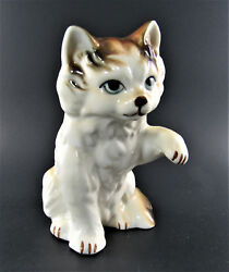VINTAGE PORCELAIN WHITE amp; RED CAT JAPAN E50