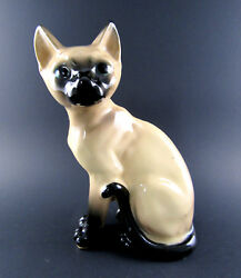 VINTAGE PORCELAIN SIAMESE CAT JAPAN E50
