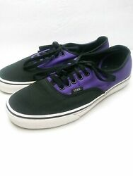 Vans Off The Wall Purple Black Skate Low Top Shoes TB4R Size Mens 8.5 Womens 10