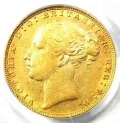 1884 Great Britain England Victoria St George Gold Sovereign Coin 1s - Pcgs Xf45