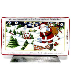 Ps Portmeirion Studio Susan Winget A Christmas Story Serving Tray 11.5 Long