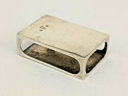 1907 Solid Silver Vesta Matchbox Cover Great On The Dining Table Candles