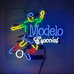 Real Glass Display Neon Signs Modelo Especial Soccer 19x15