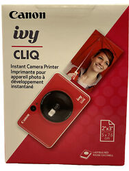Canon Ivy Cliq Instant Camera Printer. 2andrdquox3andrdquo Photos Ladybug Red New And Sealed