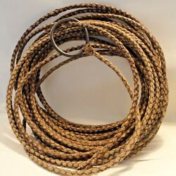 Antique Leather Lasso From Brasil Heavy Huge Large Iron Hondo Real Deal