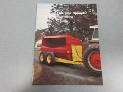New Holland 663, 667 And 668 Flail Tank Spreaders Sales Brochure 8 Pages