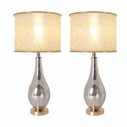 Tulip 28 Table Lamp With Foldable And Translucent Golden Yarn Lampshade Set