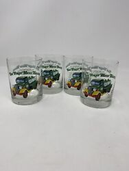 Hess Trucks Set Of 4 The First Hess Truck Clear Highball Glasses 1996 Vintage