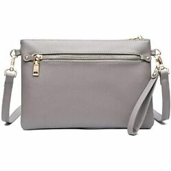 Small Leather Crossbody Bag Lightweight Clutch Purse Slim Compact Shoulder For $24.55