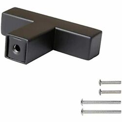 10 Pack Black Single Hole Square Bar Cabinet Pull Drawer Handles Knobs Stainless
