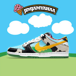 Nike Sb Dunk Low Ben And Jerryand039s Chunky Dunky - Uk9 / Us10 Cu3244-100 Deadstock
