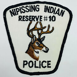 Nipissing Indian Reserve 10 Police Ontario Canada Tribal Indian Nation Patch A1