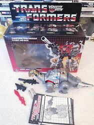 1985 Vintage Transformers G1 Hasbro - Dinobot Sludge With Box And Instructions
