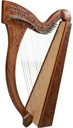29 Strings Harp With Levers And Extra Strings Free Black Bag And Tuning Key