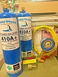 R410 R410a R-410 R-410a Refrigerant With Dye Charge And Leak Locator Kit