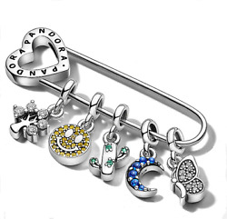 Authentic Pandora Me Sterling Silver Micro Dangle Charms Express Who You Are