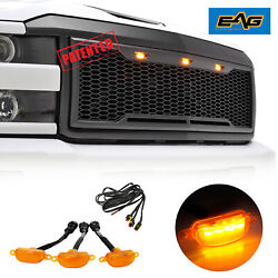 Paramount Grille Black Front Upper Led Grill Mesh Fit 15-18 Chevy Silverado 2500