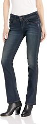 Silver Jeans Co. Womenand039s Suki Curvy Fit Mid Rise Slim Bootcut Jeans