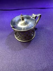 Lidded Silver Plated Condiment Pot Case