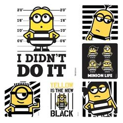 24 Sandylion Minion Yellow amp; Black Character License Doctor Large Stickers 2.5quot;