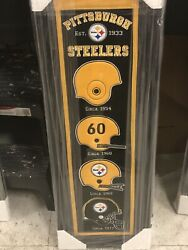 Pittsburgh Steelers Framed Heritage Banner- New