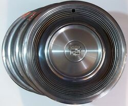 68-69 Cadillac Fleetwood Deville 15 Inch Wheel Covers Hub Capand039s Oem Lot Of 4