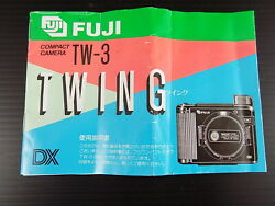 Vintage Fuji Tw-3 Twin G Compact Camera Manual In Japanese