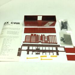 Accurate Finishing 1002 Central Rr 40 Box W/ Five Panel Doors H.o. Scale