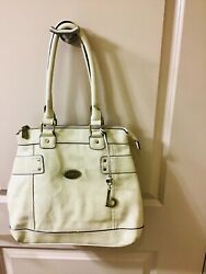 No BOC Handbag Ivory Large Leather Satchel Purse $39.95