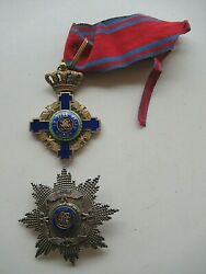 Romania Kingdom Star Order Grand Officer Set W/o Swords. Type 2. By Weiss Rr