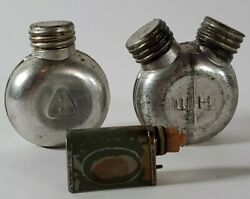 Vintage Oil Can Wwii Era Military Gun Oiler 3 Single And Double And Small Green A