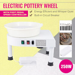 Pottery Kit For Beginners And Pros With Clay Sculpting Tools And Foot Pedal White