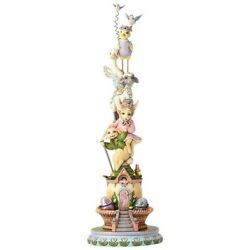 Jim Shore Heartwood Creek - Easter Collection - Lighted Stacked Easter Animals
