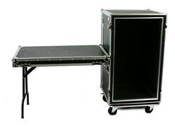 Osp 20 Space Shock Mount Amp 20 Deep Ata Rack Road Case Attached Lid Table