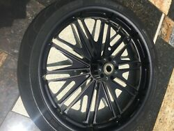 Roland Sands Design Boss Black Ops Front 3.5x21, And Rear 5.5x16 Wheels/tires.