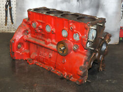 Volvo Penta Aq131a Bare Engine Block Assembly 4 Cylinder Oem Two Broken Bolts