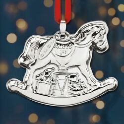 2020 Reed And Barton Baby's 1st Christmas Rocking Horse Sterling Ornament - New